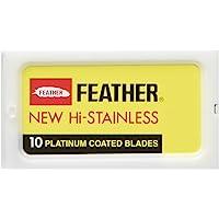 Feather Hi Stainless Double Edge scheermesjes, 30 stuks