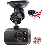 HQR X5 LCD FHD 1080p 140 Wide Angle Dashboard Camera Recorder Car Dash with Night Vision, G-Sensor, Motion Detection