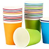 KAIL Holiday Party Disposable Cups, Paper Cups For DIY (Assorted Colors,7 Ounce,50 Count)