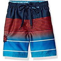 Kanu Surf Boys' Echelon Stripe Quick Dry Beach Board Shorts Swim Trunk
