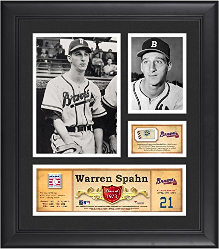 Warren Spahn Atlanta Braves Framed 15