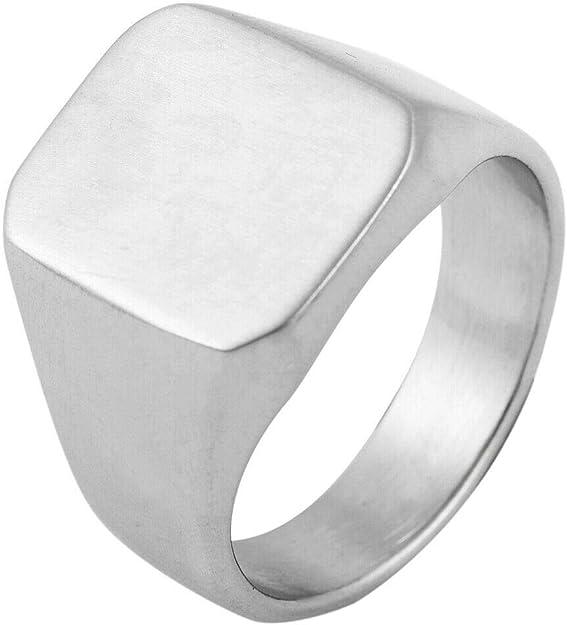 Siegelring Edelstahl silber matt Ring Edelstahlring