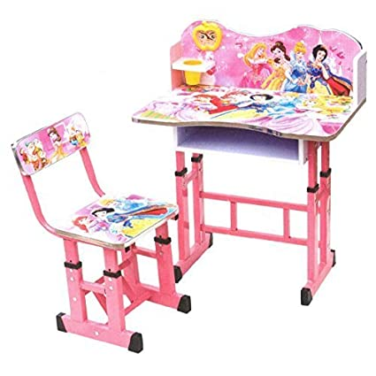 Study Table And Chair Prinsess For Kids