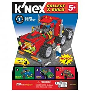 Tomy 3210  - 5 + Camino K'NEX Rigs serie con motor, camión, sistema modular, 225 piezas Conjunto rojo