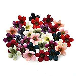 Silk Flowers in Bulk Wholesale Silk Sunflower Artificial Flower Head for Wedding Box Decoration Headmade Scrapbooking Accessories Fake Flower 100pcs 4cm 62