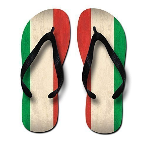 Zaza FlagOfItalyPrintingUnisexFlipFlops,Medium