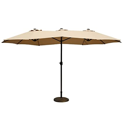 Amazoncom Le Papillon Ft Patio Outdoor Umbrella DoubleSided - Commercial table umbrellas