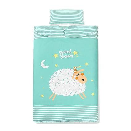 HUACANG Saco De Dormir Infantil Y Almohada Pequeña. Primavera Y Otoño Relleno De Algodon Edredón