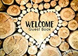 Rustic Log Guest Book for Vacation Home, Cabin Edition: 8.25 x 6 inch size Guest Log Book for Vacation Rental, Airbnb, VRBO and more