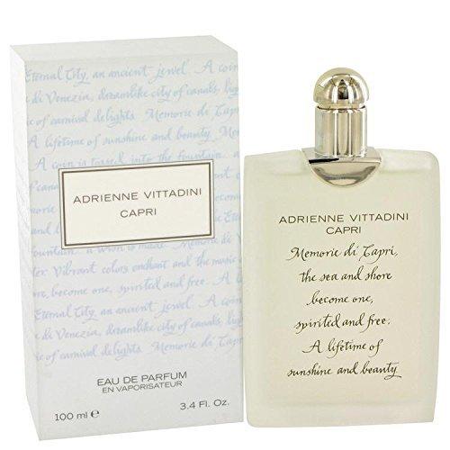 Capri by Adrienne Vittadini Eau De Parfum Spray 3.4 oz for Women - 100% - De Eau Vittadini Parfum Adrienne