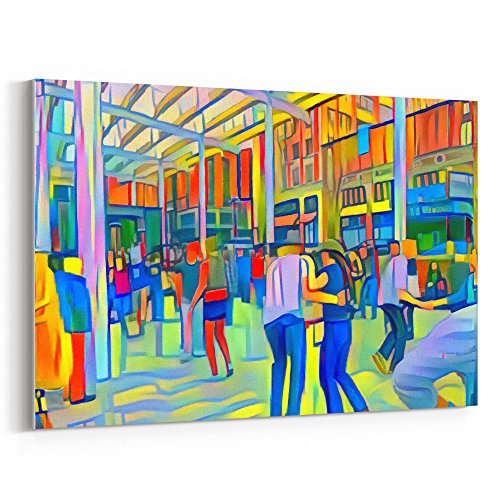 Westlake Art - Swing Dance Lover 18x12 inch Modern Canvas Wrap Artwork Abstract Paintings Pictures Printed Wall Art for Home Office Decorations Unique Gift Idea