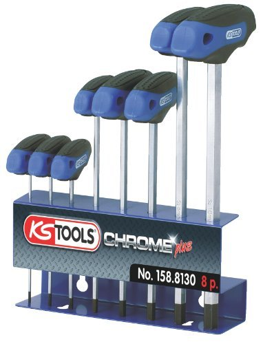 KSツール158.8130 Ergo + t-handleキー六角キーセット、8ピース入り、KSツールで2 – 10 mm B01HR3AVD8