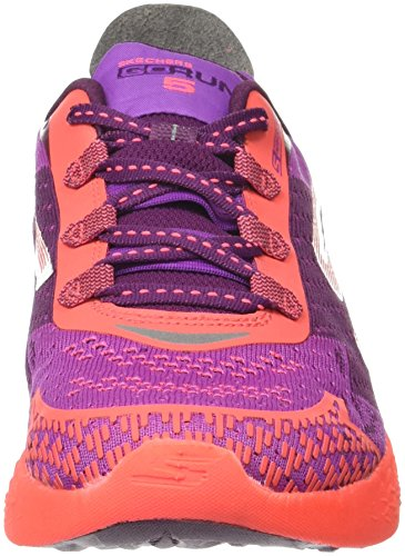 Skechers Go Run 5, Chaussures de Running Femme Violet (Purple/ht. Pink)