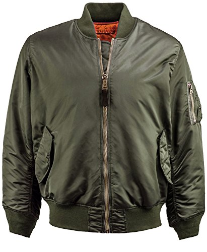 Men's MA-1 Bomber Flight Jacket Active Reversible Casual Military Air Force (Small, MA-1 Military) (Military Bomber)