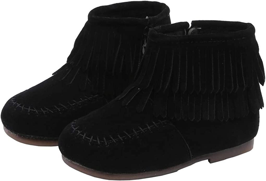 lakiolins Baby Boys Girls Work Boots Lace-Up Ankle Boots Winter Snow Boots Martin Boots