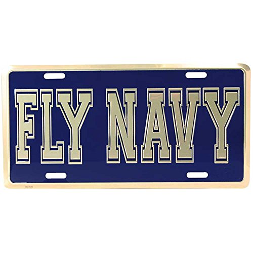 Honor Country Fly Navy License Plate