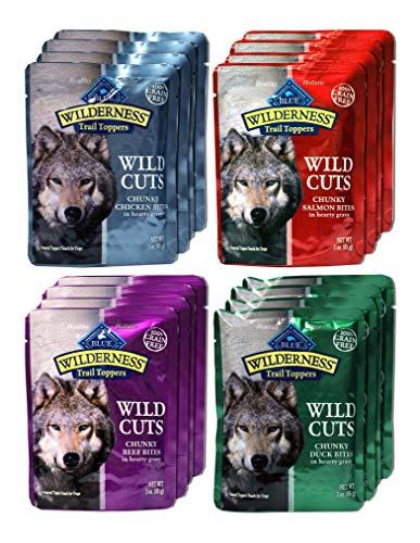 Blue Buffalo Wilderness Trail Toppers Wild Cuts Dog Gravy Snacks Variety - Dog Foods Sample