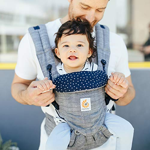 Ergobaby Omni 360 All-Position Baby Carrier for Newborn to Toddler with Lumbar Support (7-45 Pounds), Star Dust