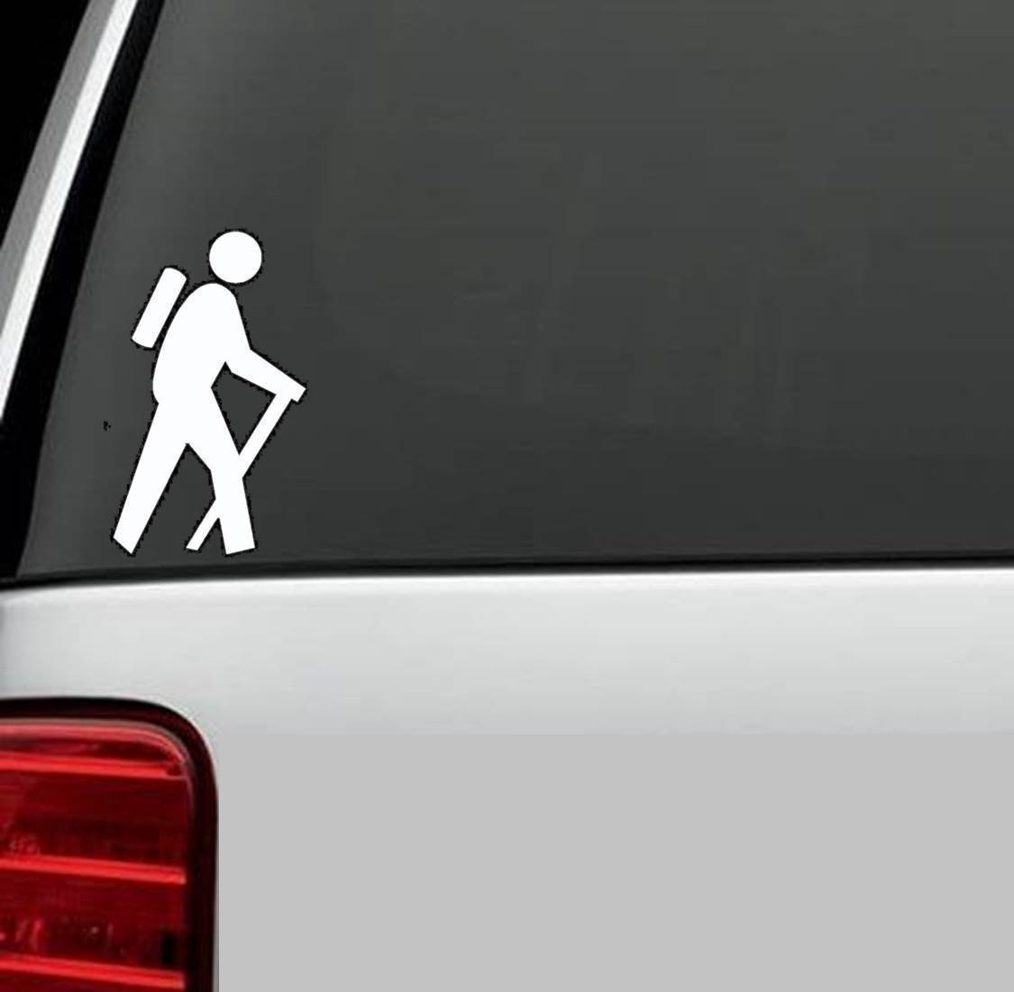 Hoods White Doors StickAny Car and Auto Decal Series 5 Camping Icons Sticker for Windows