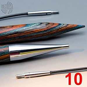 Lana Grossa Designer - Puntas para agujas de coser (madera, vario 10.0)