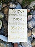 Ruskin352 LGBT Wedding Gift Important Dates Sign Our Love Story Sign First Day Best Day Yes Day Personalized Gift Special Dates Same Sex Marriage Gift