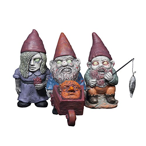 Thumbs Up Mini Zombie Gnomes, Set of 3