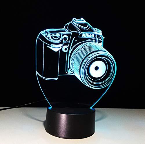 Luz de la noche 7 Atmósfera de color Visión 3D LED Entretenimiento ...