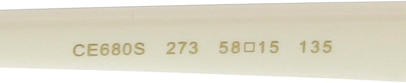 Chloé Lunettes de soleil Square Daisy en lumière Tourterelle CE680S 273 58 Gris