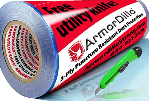 New 3PLY ArmorDillo 100% American 24 x 200 Duct & HVAC Protection Film. Strongest, Easiest to Use Duct & HVAC Cover, Clear Protective Film, Surface Protection Film, Dust Protection Film