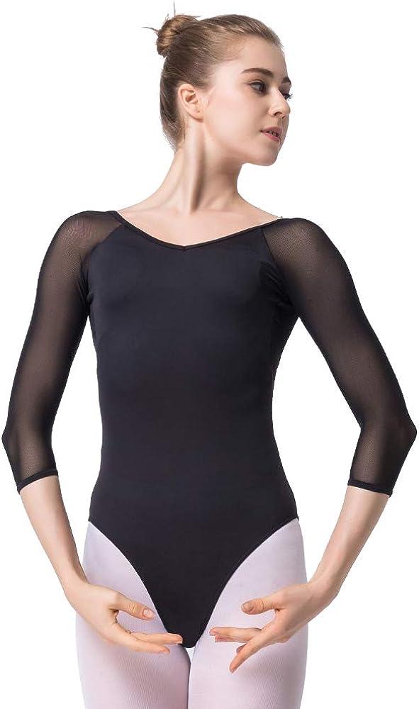 Maillot de Danza Gimnasia Leotardo Clásico Ballet Vestido para Niñas Mujer