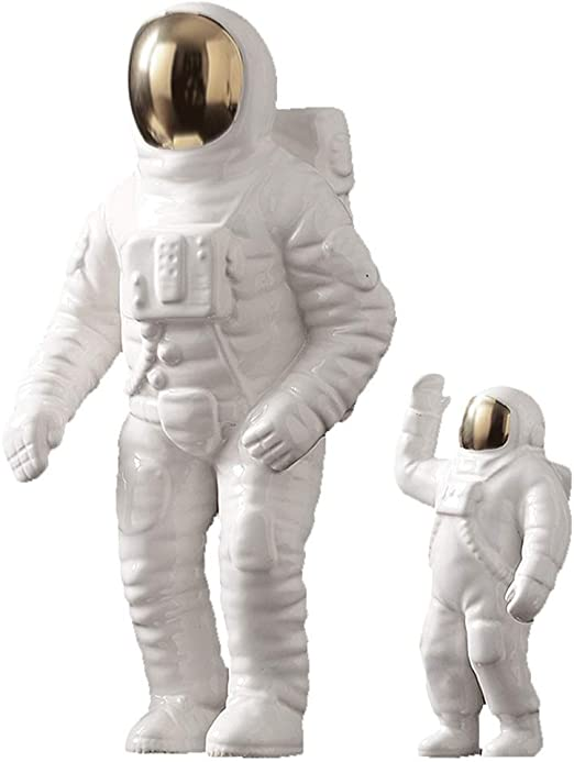 Ornaments for Creative Astronauts Spaceman Model Ornaments Living Room Study Childrens Room Decoration Furnishings Sculpture Crafts Gold L Size