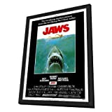 Jaws 11 x 17 Movie Poster - Style A - in Deluxe Wood Frame by Pop Culture