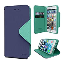 Cellto Apple iPhone 6 Premium Wallet Case with HD Screen Protector [Dual Magnetic Flap] Diary Cover / High Quality PU Leather + Life Time Warranty