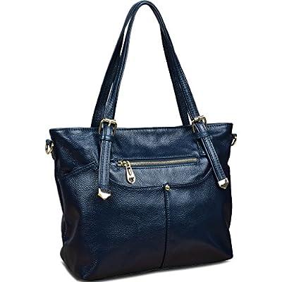 Yahoho 2015 New Women's Soft Genuine Leather Nail Shoulder Bag Cross Body