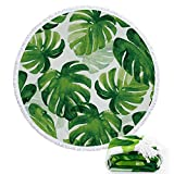 Round Roundie Tropical Pineapple Collections Beach Towels Thick Terry Yoga Picnic Mat Large Tapestry Tablecloth Decorations With Long Fringe Tassels