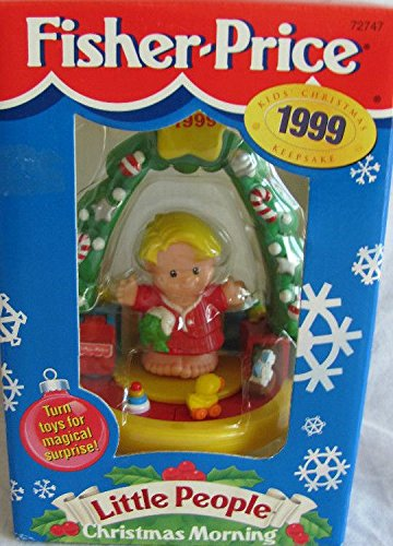 Fisher Price 1999 Little People Christmas Morning Ornament