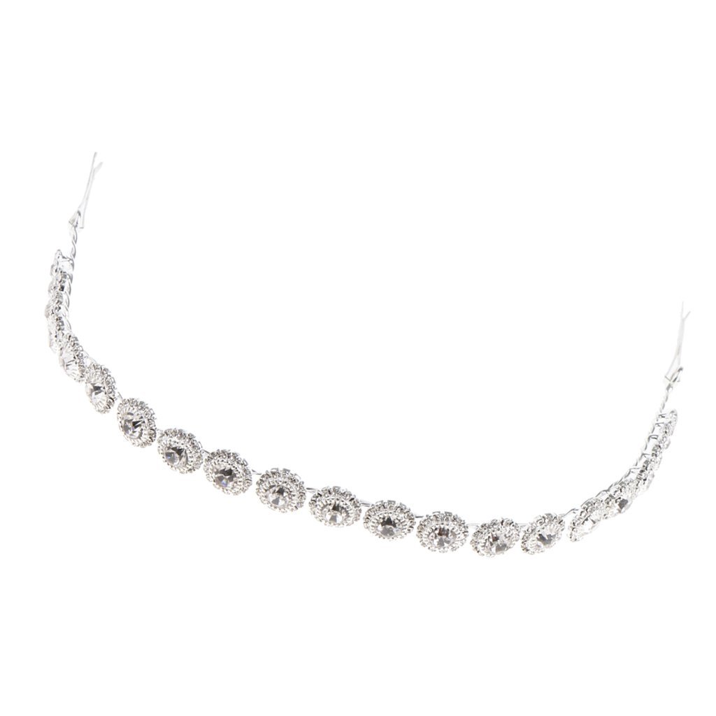 MagiDeal Perles Bande Chignon Serre Tête Diamant Rond Femme Bijoux Mariage Coiffure Accessoire non-brand STK0158011555