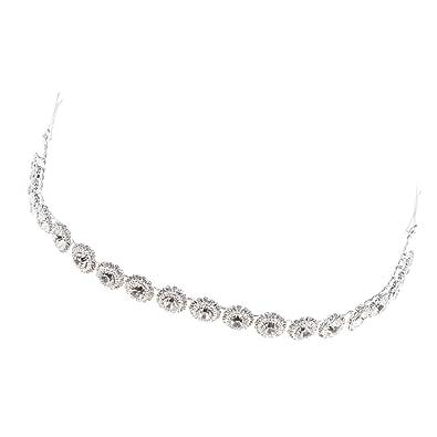 Magideal Perlen Band Dutt Gewachshaus Kopf Diamant Rund Damen