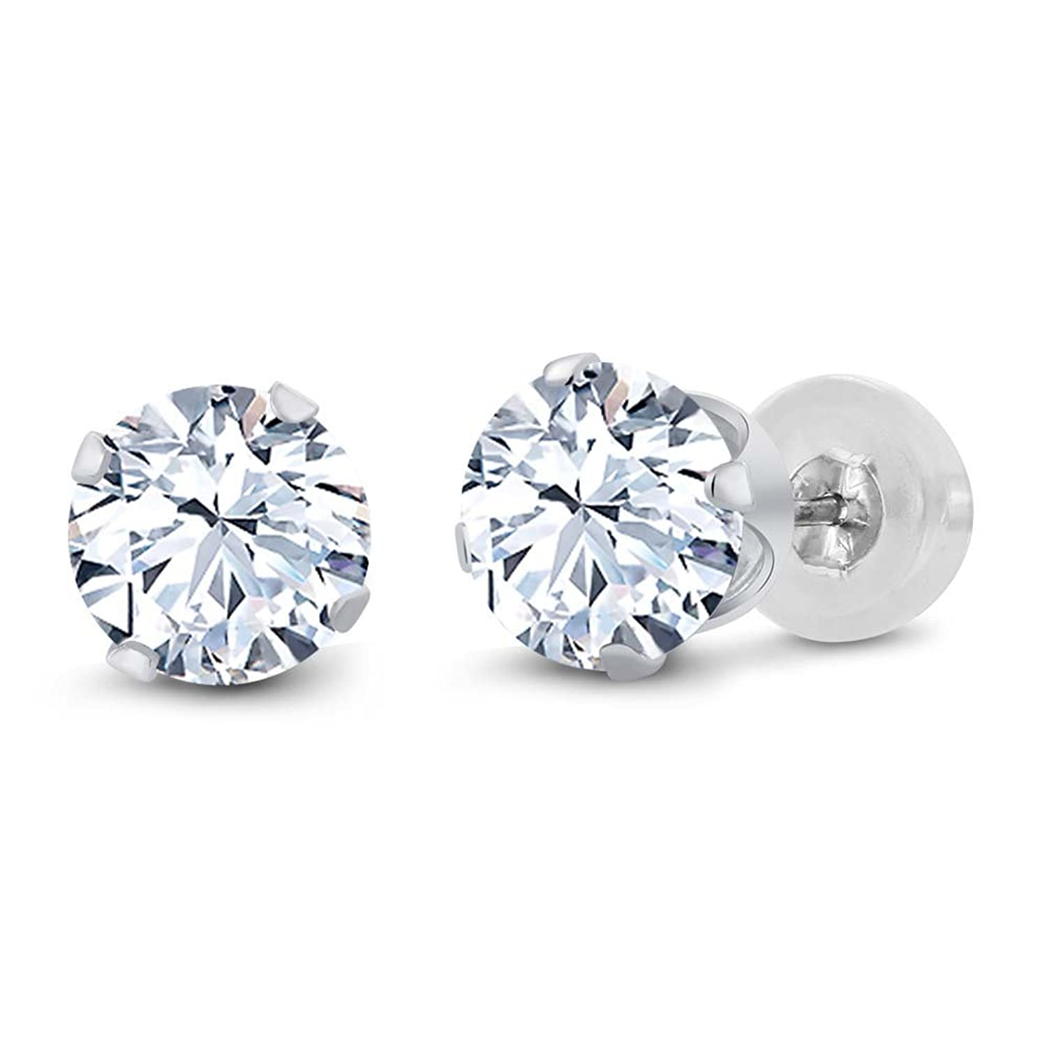 earrings diamond topaz stud ef products collection earring br white round