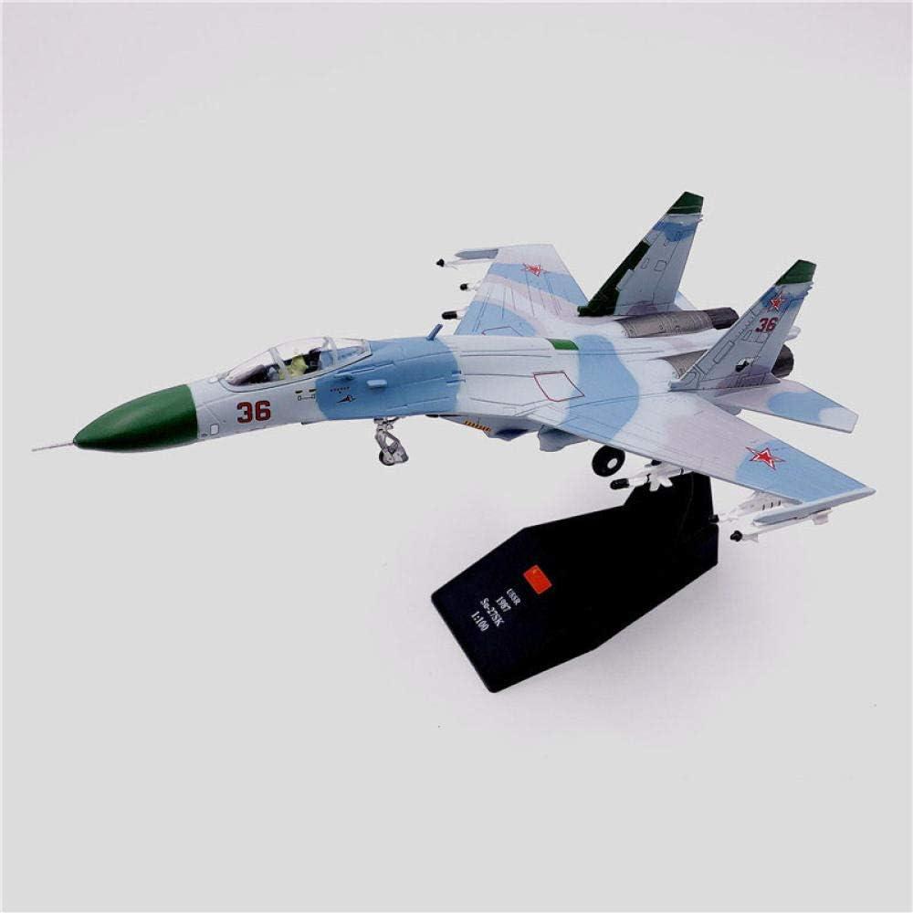 36 K/ämpfer Diecast Metall Flugzeug Modell Spielzeug HWGDC Flugzeugmodell 1//100 Milit/är SU-27 Flanker 1987 russische Nr