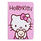 iPad Mini Case, Phenix-Color Hello Kitty Design Premium Flip Stand PU Leather Hard Case for Apple iPad Mini 1/2/3 + Free Screen Protector (#02)