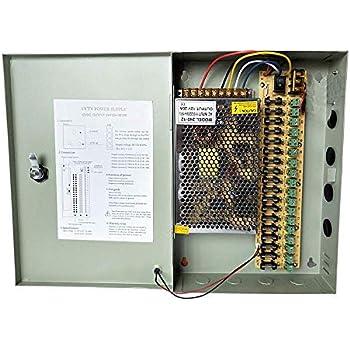 Pigtail 4 x 16CH Power Supply CCTV Camera 18 Port 12V