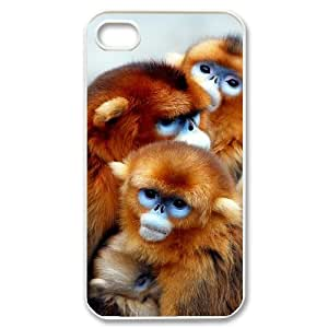 GRTT Hard Shell Diy Iphone 4/4s hard Case Monkey ,Customized Bumper Plastic case RT741268