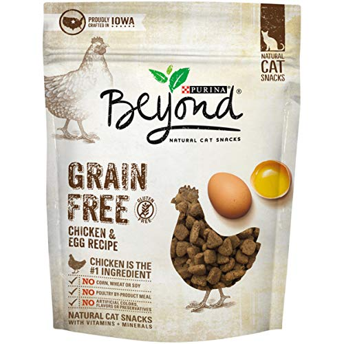Purina Beyond Grain Free Chicken & Egg Recipes Natural Cat Snacks, 6 oz. Pouch (Pack of 6)
