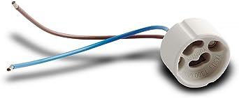 GU10 Hochvolt 230V Keramik Fassung LED Halogen Leuchtmittel mit Aderendhülse