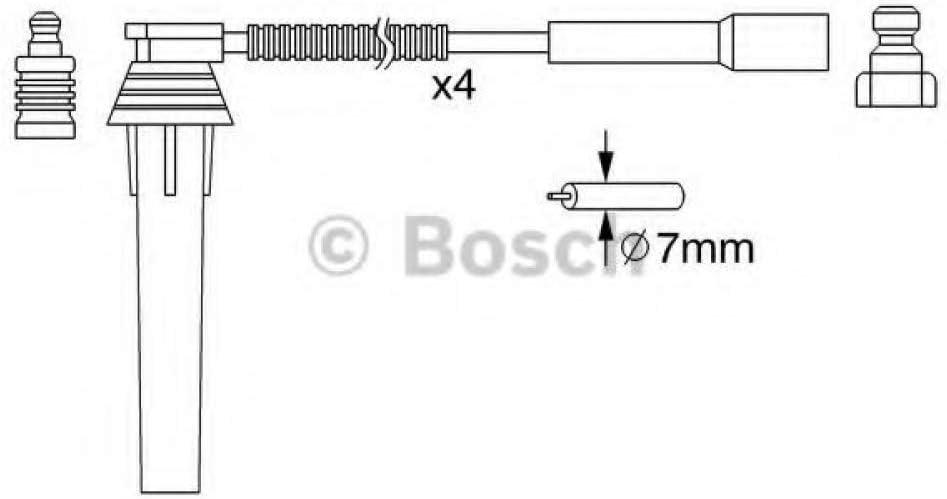 Bosch 986357052 cable de arranque de alta tensin