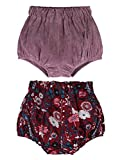 AYIYO 2pcs Baby Infant Bloomer Shorts Floral Dots