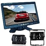 Buyee Car Rear View Kit 7\' LCD Monitor + 2x Ir Reversing Camera 18 LED + 2x 10m Cable