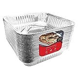 Aluminum Foil Pans 9x9 Baking Pans (30 Pack) Square Baking Pans - 9 Inch Cake Pan - Brownie Pan - Lasagna Pan - 9 Inch x 9 Inch x 2 Inch