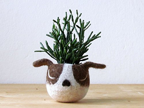 Dog lover gift - Dog head planter - Boston terrier planter - Animal planter